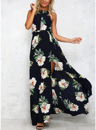 Print/Floral Sleeveless A-line Maxi Sexy/Casual/Party/Boho/Vacation Dresses