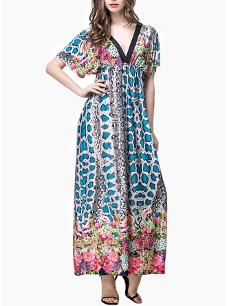 Print Shift Maxi Dresses