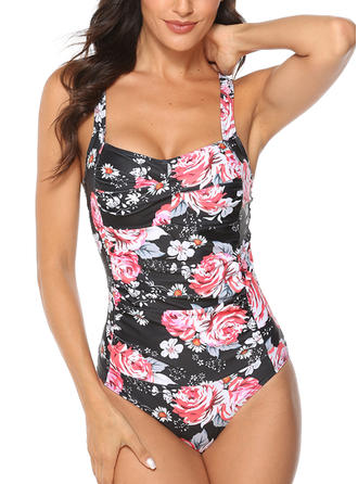 Floral Strap Sexy One-piece Swimsuits