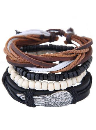 Uniek Legering Kunstleer Dames Fashion Armbanden