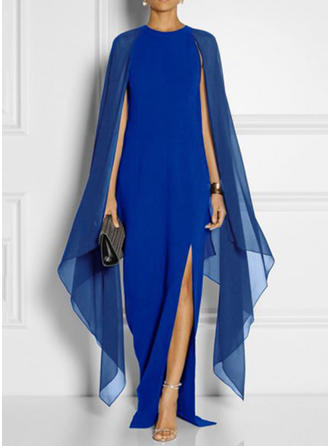 Solid/Slit Split Sleeve Shift Asymmetrical Party/Elegant Dresses