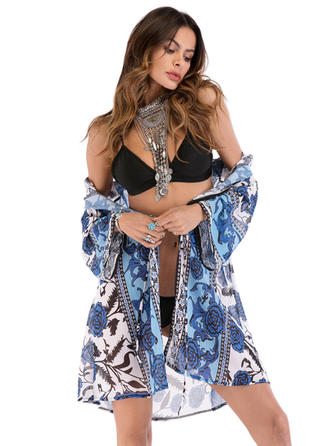 Floral Light Weight/simple/fresh Beach Poncho