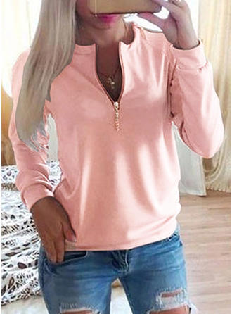 Cotton Plain Sweatshirt