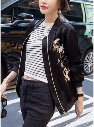 Polyester Long Sleeves Embroidery Jackets