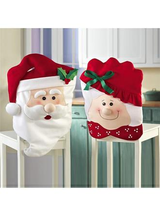 boldog Karácsonyt Hóember Télapó Szövet Székhuzat