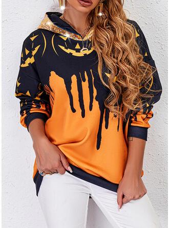 Halloween Imprimé Manches Longues Sweat-shirt