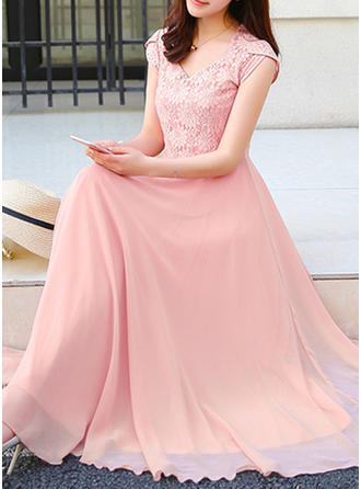 Lace Sweetheart Midi A-line Dress