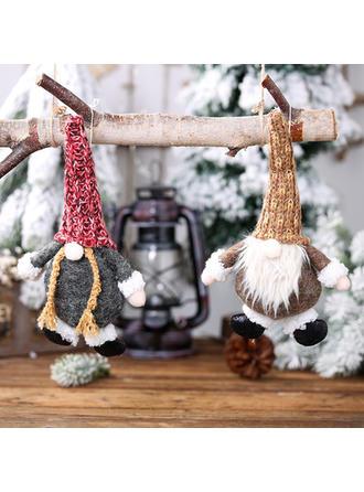 Gnomo Navidad Colgando Tela Adornos colgantes de árboles Muñeca
