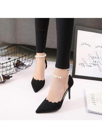 Pentru Femei PU Toc Stiletto Încălţăminte cu Toc Înalt cu Imitaţie de Perlă pantofi