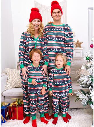 Rentier Druck Herz Passende Familie Christmas Pajamas