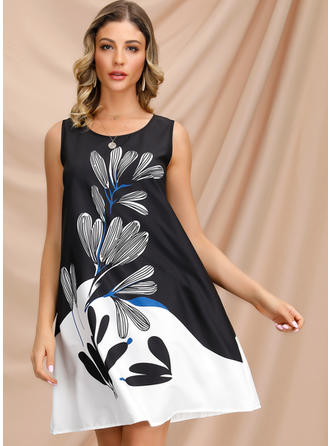 Print/Floral Sleeveless Shift Above Knee Casual/Party Dresses