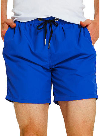 Heren Effen kleur bekleed Board Shorts