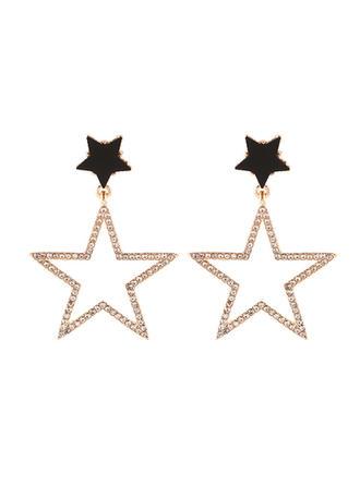 En forme d'étoile Alliage Strass Femmes Boucles d'oreilles