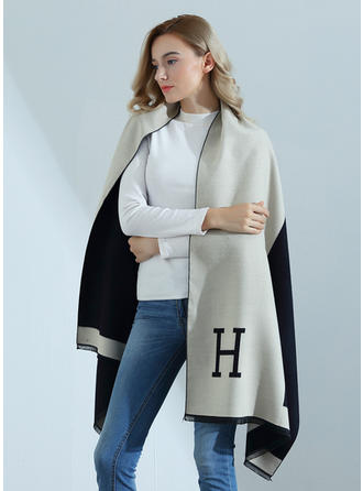 letter Oversized/fashion Artificial Wool Scarf