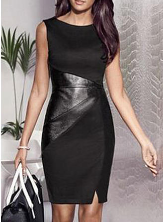 Solid Sleeveless Bodycon Knee Length Casual/Party Dresses