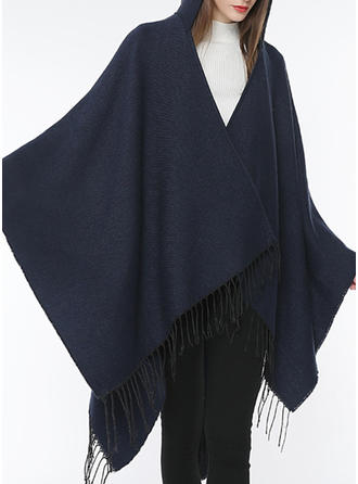 Solid Color/Tassel Shawls/attractive Scarf/Poncho