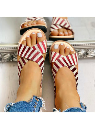 Women's Cloth Flat Heel Sandals Slippers shoes