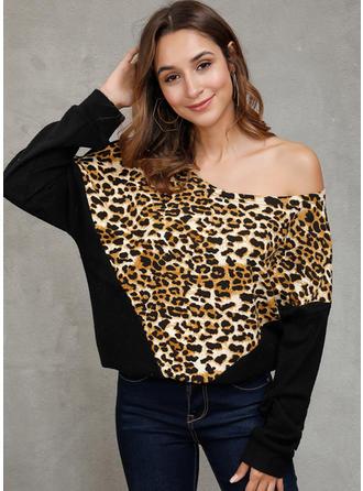 Baumwollmischungen Tierdruck Pullover
