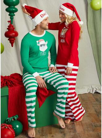 Santa Reindeer Color-block Bear Striped Floral Christmas Family Matching Christmas Pajamas