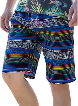 Pour des hommes Stripe Shorts de bain Maillot de bain
