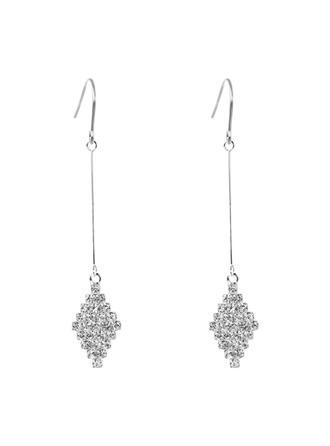 Beautiful Alloy Rhinestones With Rhinestone Women's Fashion Earrings (Set of 2)