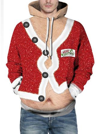 Unisex Polyester Spandex Print Christmas Sweatshirt