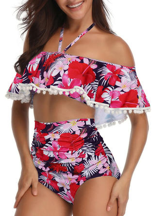 Imprimé Tropical Dos Nu Mignon Bikinis Maillots De Bain