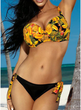 Floral Print Strap Sexy Bikinis Swimsuits