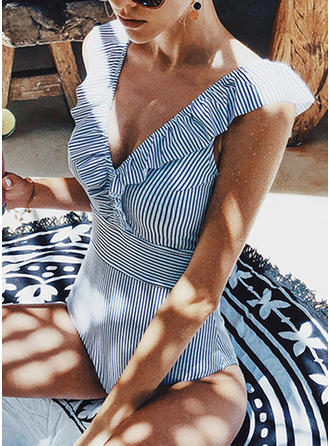 Stripe Strap Sexy Cute One-piece Swimsuits