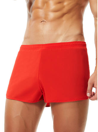 Men's Splice color Elastic Waist Swim Trunks