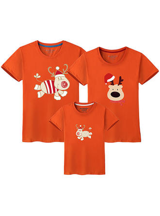 Deer Print Family Matching T-Shirts