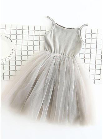 Girls Spaghetti Strap Casual Cute Dress