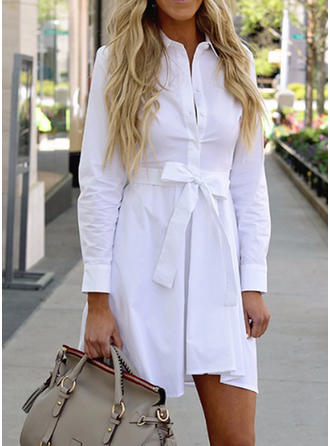 Long Sleeves Shift Above Knee Casual Dresses