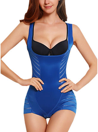 Chinlon Striped Shapewear