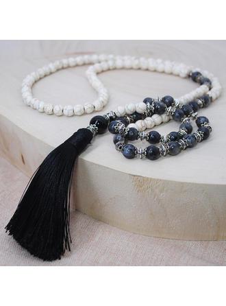 Uniek Tibetaans Zilver Natuursteen Turkoois Dames Fashion Ketting