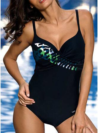 Print Strap Sexy Attractive One-piece Swimsuits
