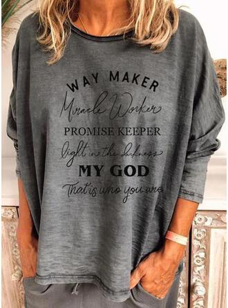 Figuur Print Ronde Hals Lange Mouwen T-shirts