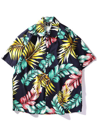 Men's Leaves Hawaiian Beach Shirts