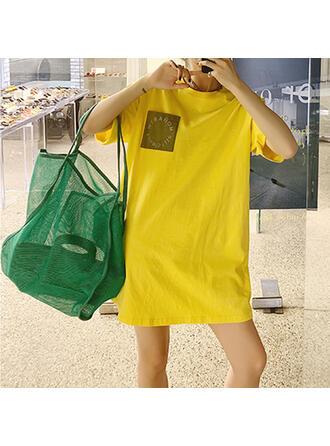 In de mode/Effen kleur/Bohemian stijl/Gevlochten Tote tassen/Strandtassen
