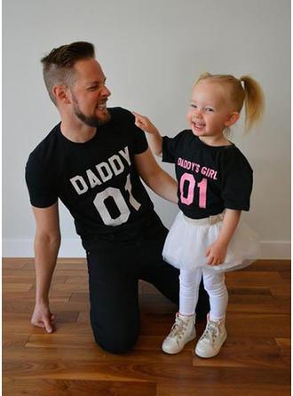 Papa et moi Letter Inmprimé Correspondant à T-shirts