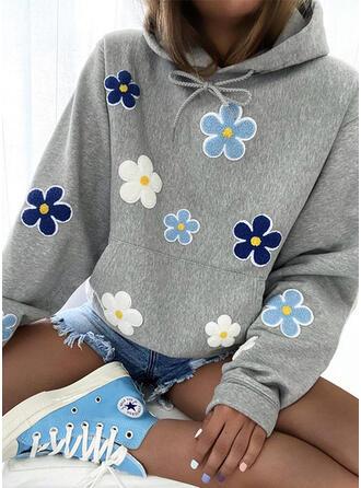 Bordado Floral Manga larga con capucha