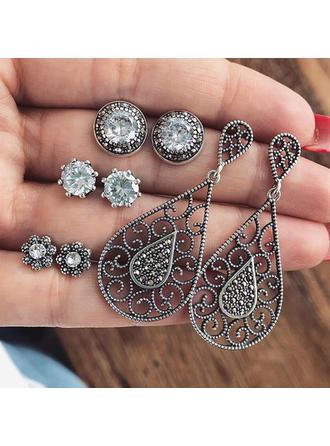 Beautiful Alloy Rhinestones With Rhinestone Women's Fashion Earrings (Set of 4)