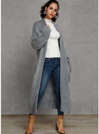 Solid Cable-knit Cardigan