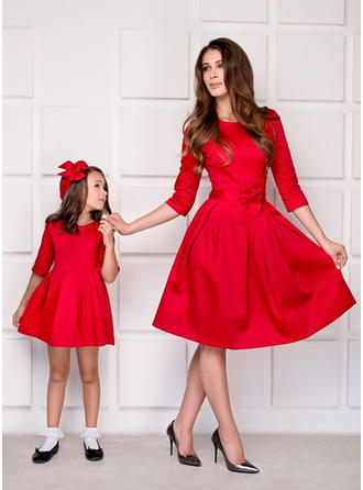 Mommy and Me Solid Matching Dresses