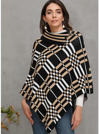 Print Grid Chunky knit Sweaters
