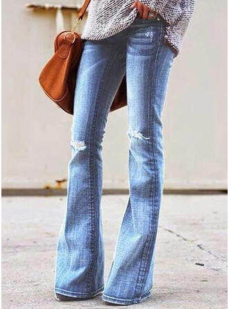 Strappata Lungo Casuale Lungo Jean Pantaloni