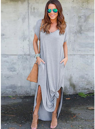 Cotton With Stitching Maxi Dress