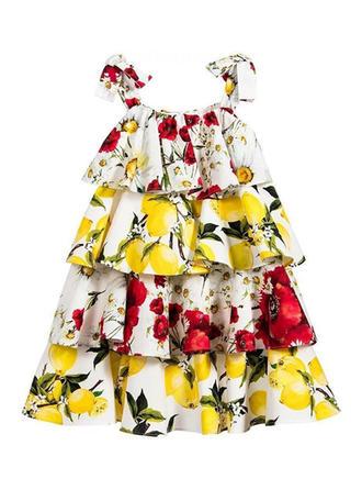 Girls Spaghetti Strap Print Cute Cool Bohemian Dress