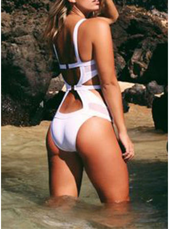 Solid Color Strap Sexy Fashionable Beautiful One-piece Swimsuits