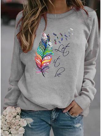 Dyr Figur rund hals Lange ærmer Sweatshirts
